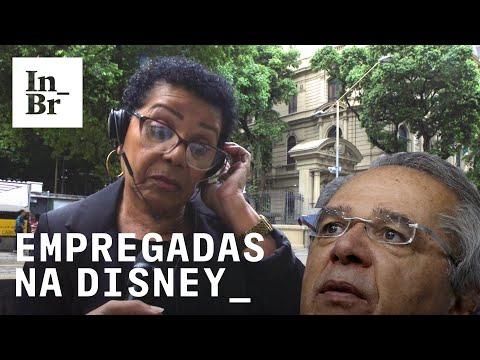 Paulo Guedes e empregadas domésticas na Disney: fomos perguntar o que as pessoas acham
