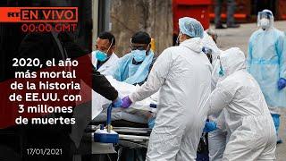2020, el año más mortal de la historia de EE.UU. con 3 millones de muertes - NOTICIERO 17/01/2021