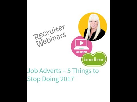 5 Things You Need to Stop Doing with Your Job Adverts