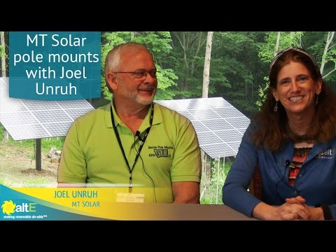 We sit down with the owner of MT Solar to discuss their solar pole mount options. MT Solar has mounting options for as few as 1 panel, and can be expanded as large as needed. Its unique chain hoist eliminates the need to hire a crane to install your solar