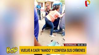 Cayó 'Nando': uno de los delincuentes juveniles más peligrosos de Lima