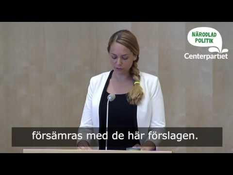 Del av Johanna Jönssons anförande i asyldebatten
