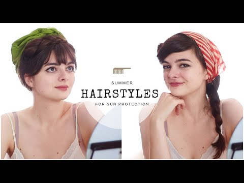 Summery Vintage Hairstyles For Sun Protection