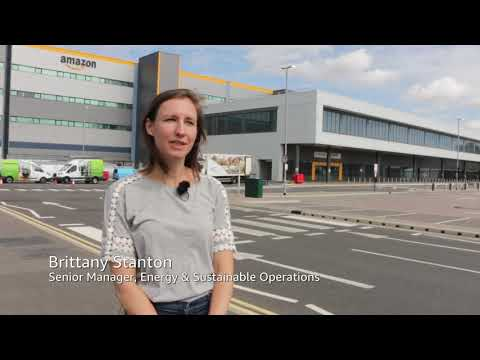 amazon.co.uk & Amazon Voucher Codes video: Amazon unveils its largest fulfilment centre solar panel installation in Europe