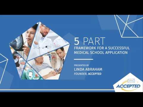 5 Part Framework for a Successful Medical School Application