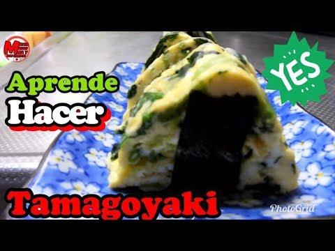 Aprende hacer Tamagoyaki en sarten redondo+comida Japonesa