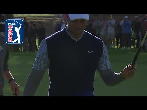 Tiger Woods eagles No. 11 at Genesis Open 2019