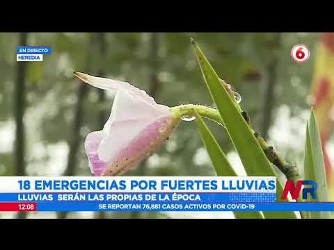 Reportan 18 emergencias por fuertes lluvias
