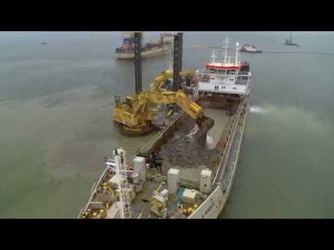 Port expansion – LINDØ port of ODENSE – progress of construction II