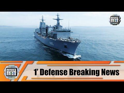Australian Navy HMA NUSHIP Supply Class Auxiliary Oiler Replenishment ship completes sea trials