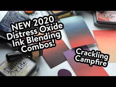 NEW 2020 Oxide Ink Blending Combos! Crackling Campfire!