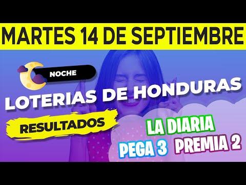 Sorteo 9PM Loto Honduras, La Diaria, Pega 3, Premia 2, 14 de Septiembre del 2021