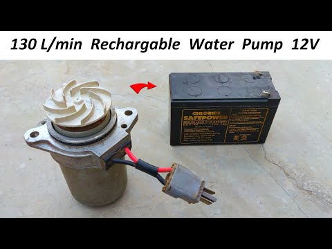 130L/min - Make 12V DC Motor & UPS Battery Powered High Pressure Water Pump | PART - 2
