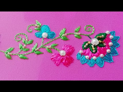 Embroidery: Oriental Design border line * beadwork * top embroidery