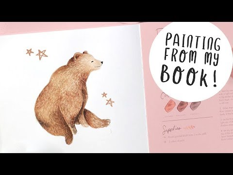 Painting a Cute Bear in Watercolour – And Some NEWS!