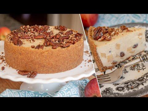 Потрясающий ЯБЛОЧНЫЙ ЧИЗКЕЙК | можно делать без сахара! простой рецепт из яблок