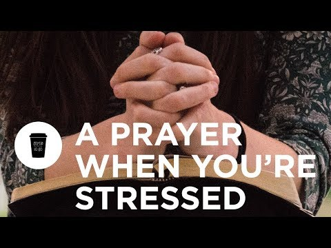 A Quick Prayer for When You Feel Stressed