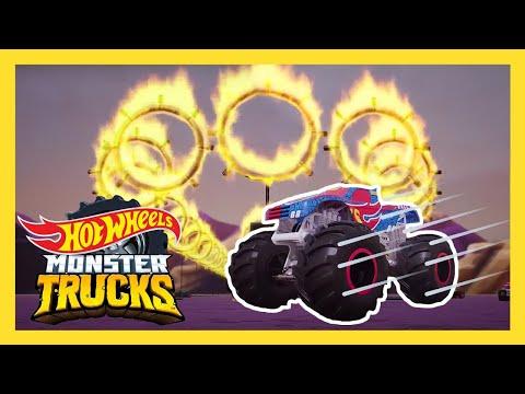 Can the MONSTER TRUCKS TAKE ON THE HEAT?! 🔥| Monster Trucks | @HotWheels