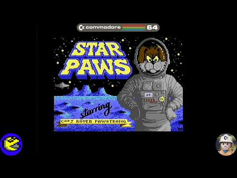 Star Paws loader, Commodore 64 - Real por S-Video