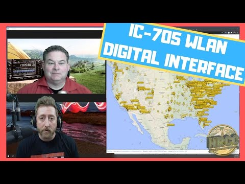 ICOM IC 705 Wireless LAN Digital Demo
