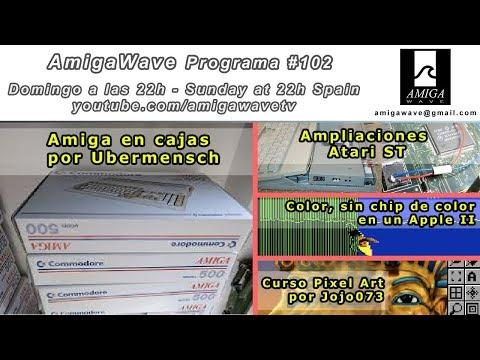 Programa #102 - Amigas en Caja, ampliaciones Atari ST, color en Apple II, Pixel art
