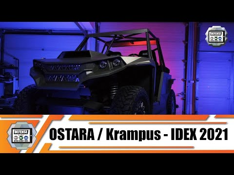 IDEX 2021 KRAMPUS buggy all-terrain hybrid electric-diesel special purpose vehicle Ostara Lithuania