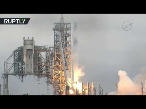 Lift off! SpaceX launches Intl Space Station resupply mission