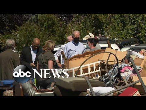 Biden tours storm damage on the East Coast | WNT