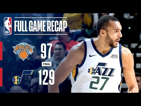 Full Game Recap: Knicks vs Jazz | Gobert Leads Utah To Win
