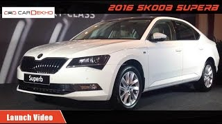 New Skoda Superb Launch Video Cardekho