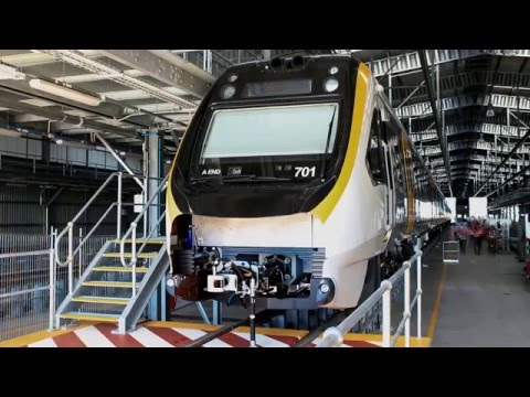 Time-lapse of the first QNGR train arriving at the Wulkuraka Maintenance Facility