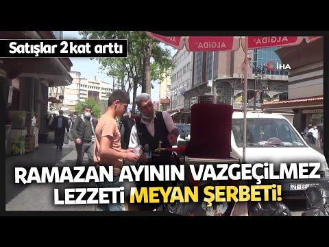 Ramazan Ayının Vazgeçilmezi Meyan Şerbeti Tezgahta Yerini Aldı