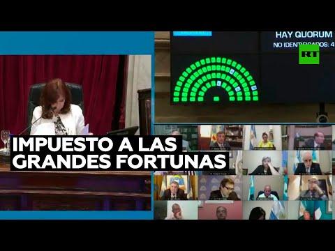 Senado de Argentina aprueba la ley para cobrar impuesto a las grandes fortunas