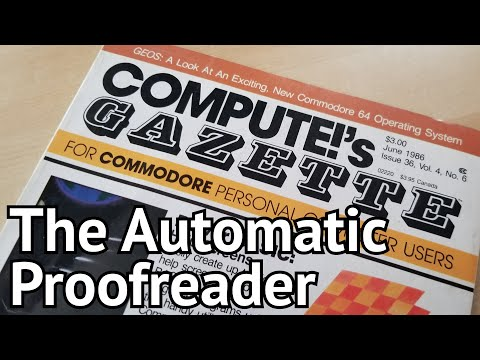 Games Distributed By Magazine: The Automatic Proofreader