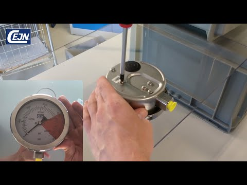 Pressure gauge - Transit screw removal