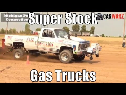 Super Stock Gas Truck Class From TTPA Truck Pulls In Corunna Michigan 2018