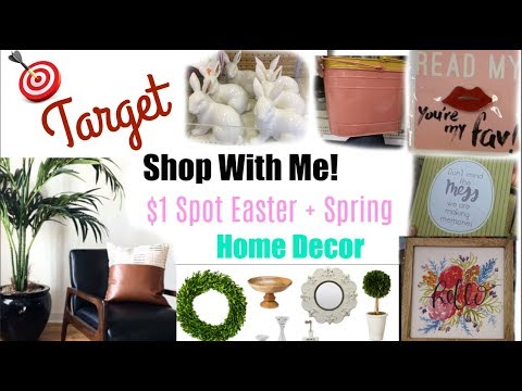 NEW TARGET DOLLAR SPOT SPRING & EASTER DECOR + SHOP WITH ME | Momma from scratch