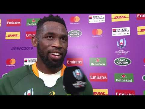 Rugby World Cup | South Africa v Italy | Post-match interview with Siya Kolisi