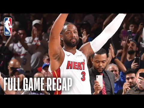 HEAT vs KNICKS | Dwyane Wade's Last Game At Madison Square Garden | March 30, 2019
