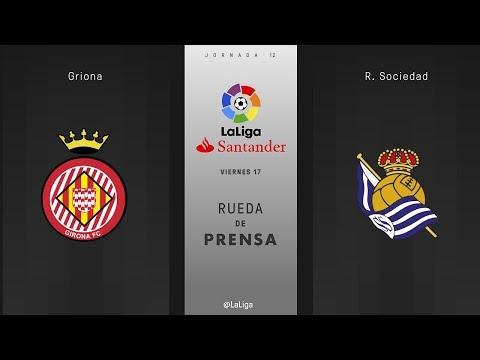 Rueda de prensa Girona vs R. Sociedad