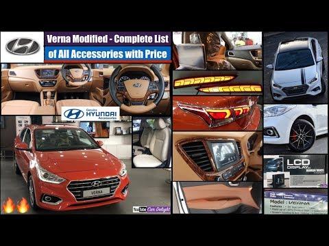 Hyundai Verna Full All Interior,Exterior Accessories with Price | Verna Modified | Verna Accessories