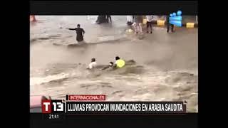 Fuertes lluvias provocan inundaciones en Arabia Saudita