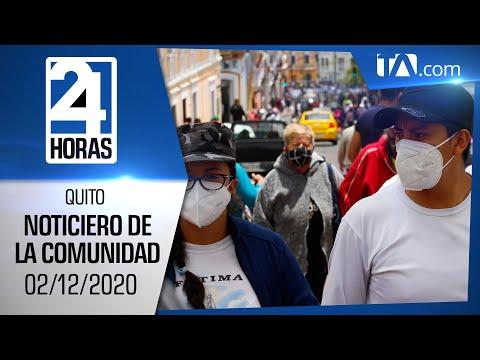 Noticias Ecuador: Noticiero 24 Horas, 02/12/2020 (De la Comunidad Primera Emisión)