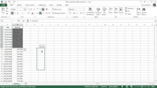 Microsoft Excel 2013 Tutorial - 6 - Copy and Move Ranges