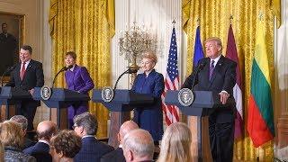 Spaudos konferencija po Baltijos šalių ir JAV viršūnių susitikimo
