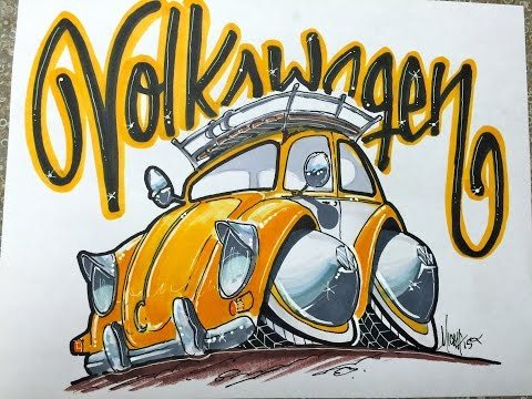 download youtube to mp3 how to draw a vw bug time lapse