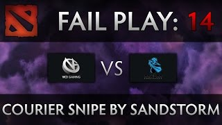 Dota 2 TI4 Fail Play - VG vs Newbee - Courier Snipe by Sandstorm