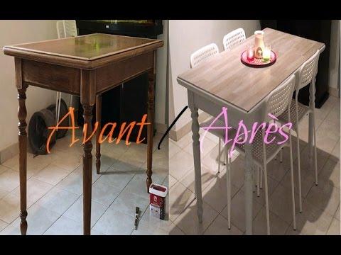 Patine sur meuble ancien tutoriel 2 hd720p download - Peindre une table basse ...