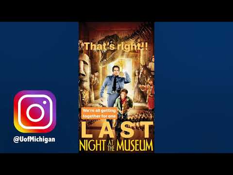 Instagram Story: Last Night At The Museum Promo