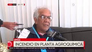 Se registró un incendio en la planta de agroquímica de la Universidad Mayor de San Simón